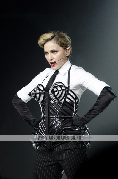 Madonna wearing Jean Paul Gaultier during the MDNA Tour 2012