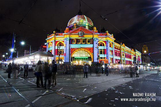 Flinders St Illuminations