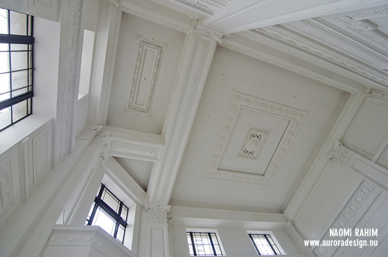 Restored ceiling at Argus Building