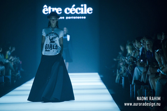 Parisian label, Etre Cecile on the Miss Vogue runway
