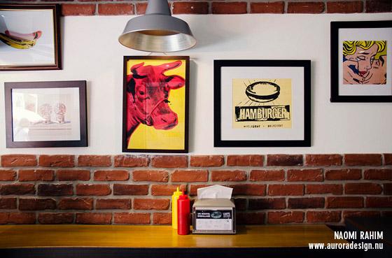 Pop art Andy Warhol prints at 231 East St Gourmet Burgers