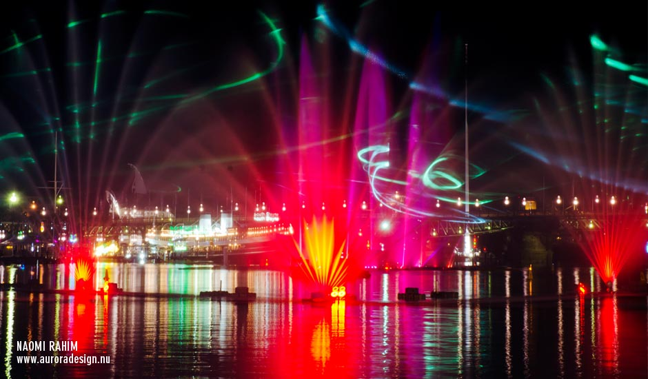 Vivid Laser-Fountain Water Theatre, Darling Harbour