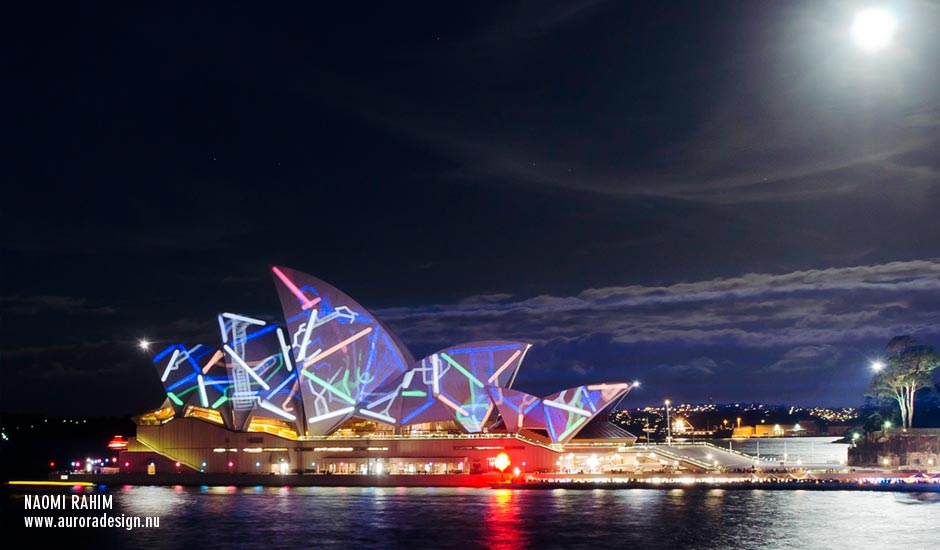 Sydney Opera House under a full moon