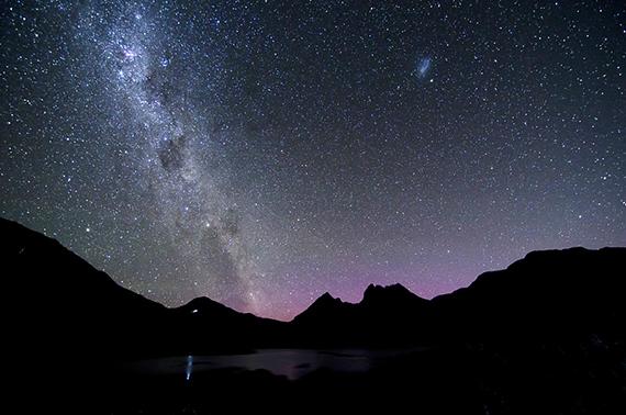 Aurora Milky Way by Naomi Rahim