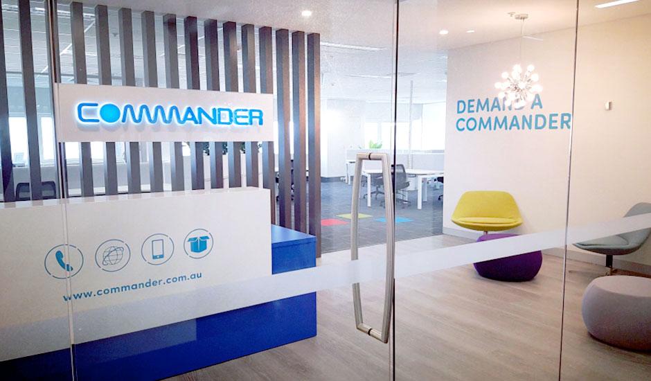 Commander office signage
