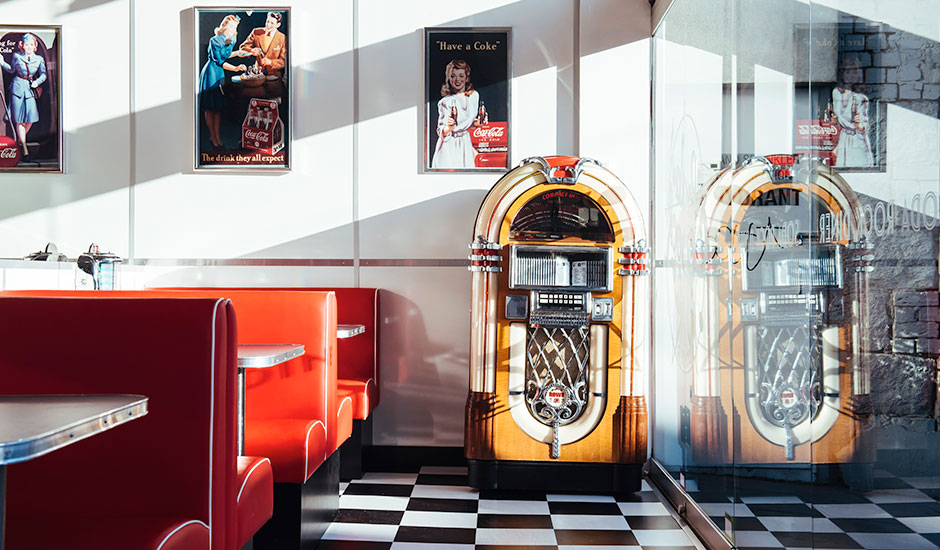Soda Rock Diner interior