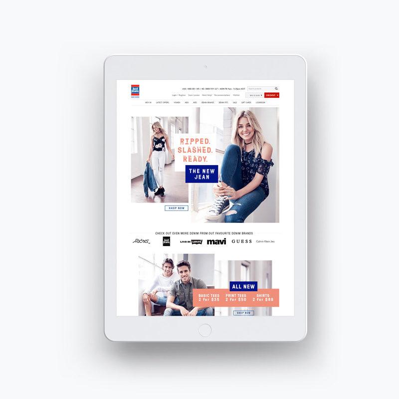 Just Jeans website homepage