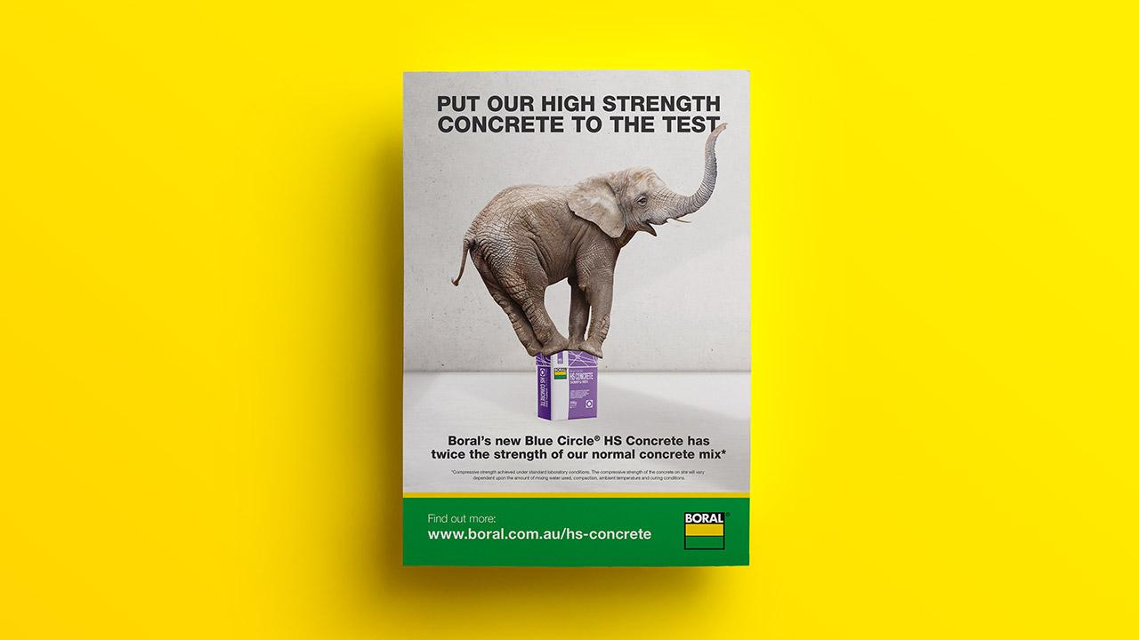 Boral High Strength Concrete ad