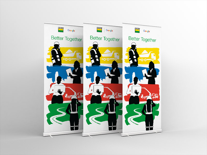 Boral / Google Pull Up Banners