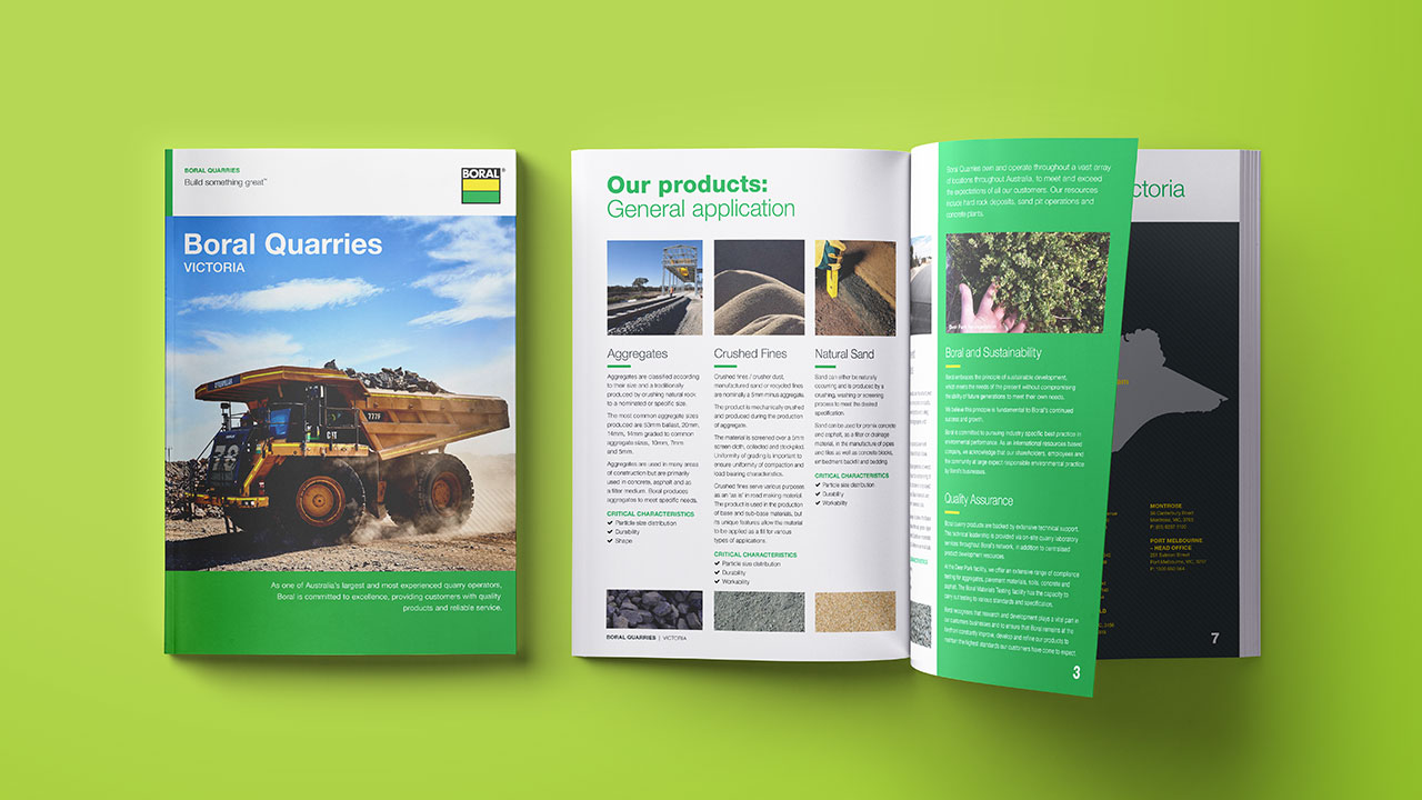 Boral Quarries brochure